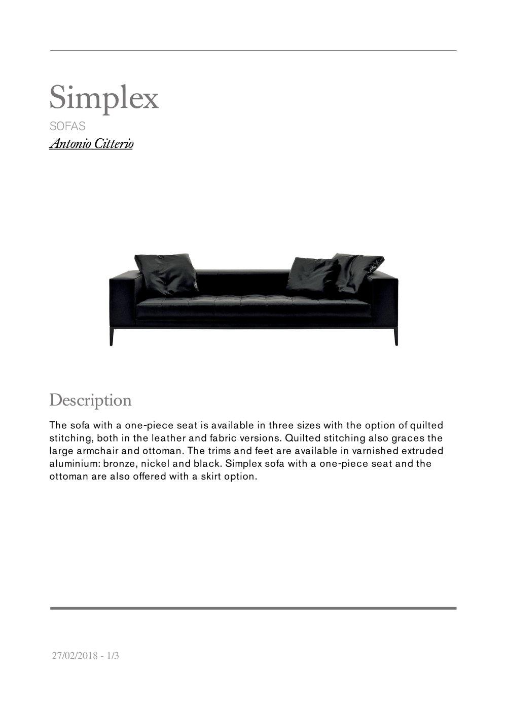 simplex maxalto pdf catalogues documentation brochures
