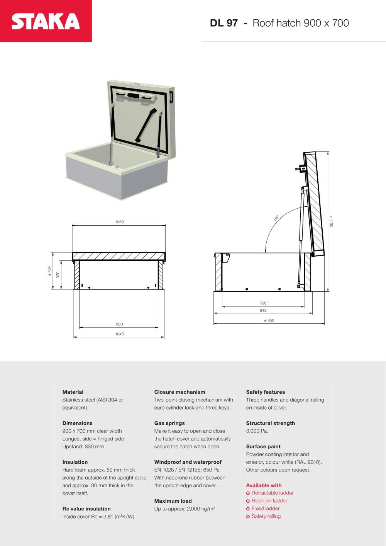 Roof Access Hatch DL97 (900x700)   1 / 1 Pages