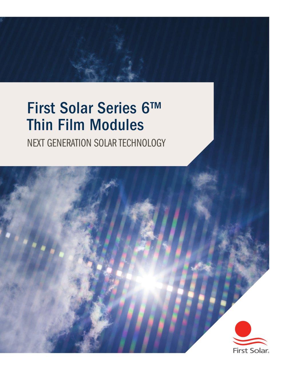 Series 6 Brochure First Solar Pdf Catalogs Documentation