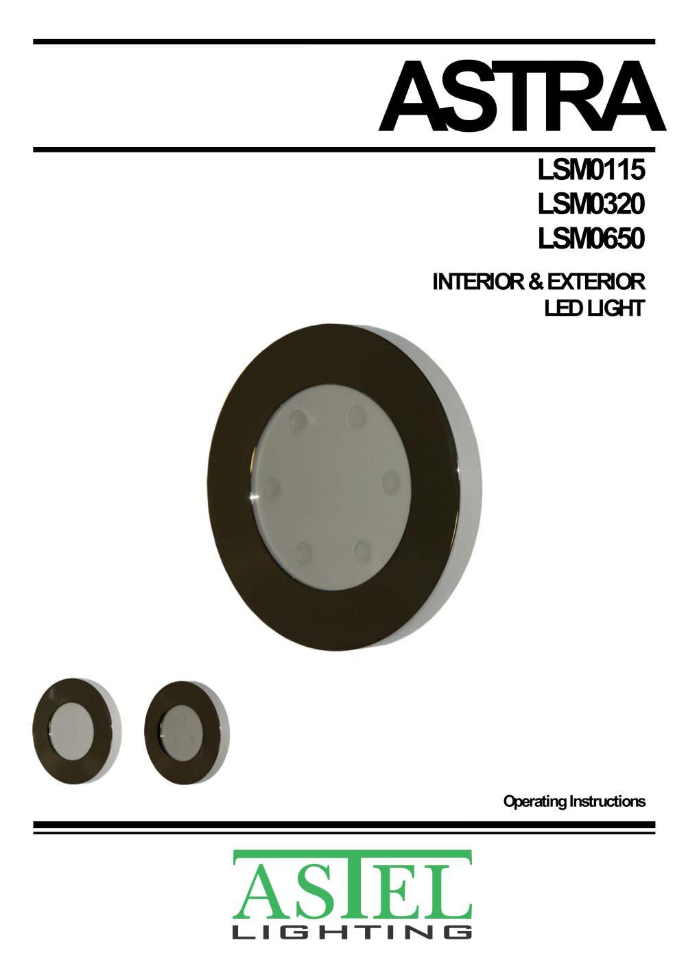 astra lsm0115 lsm0320 lsm0650 surface mount interior exterior