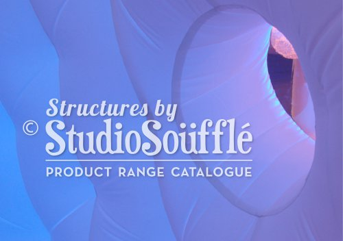 Studio Souffle Catalogue of our inflatable products