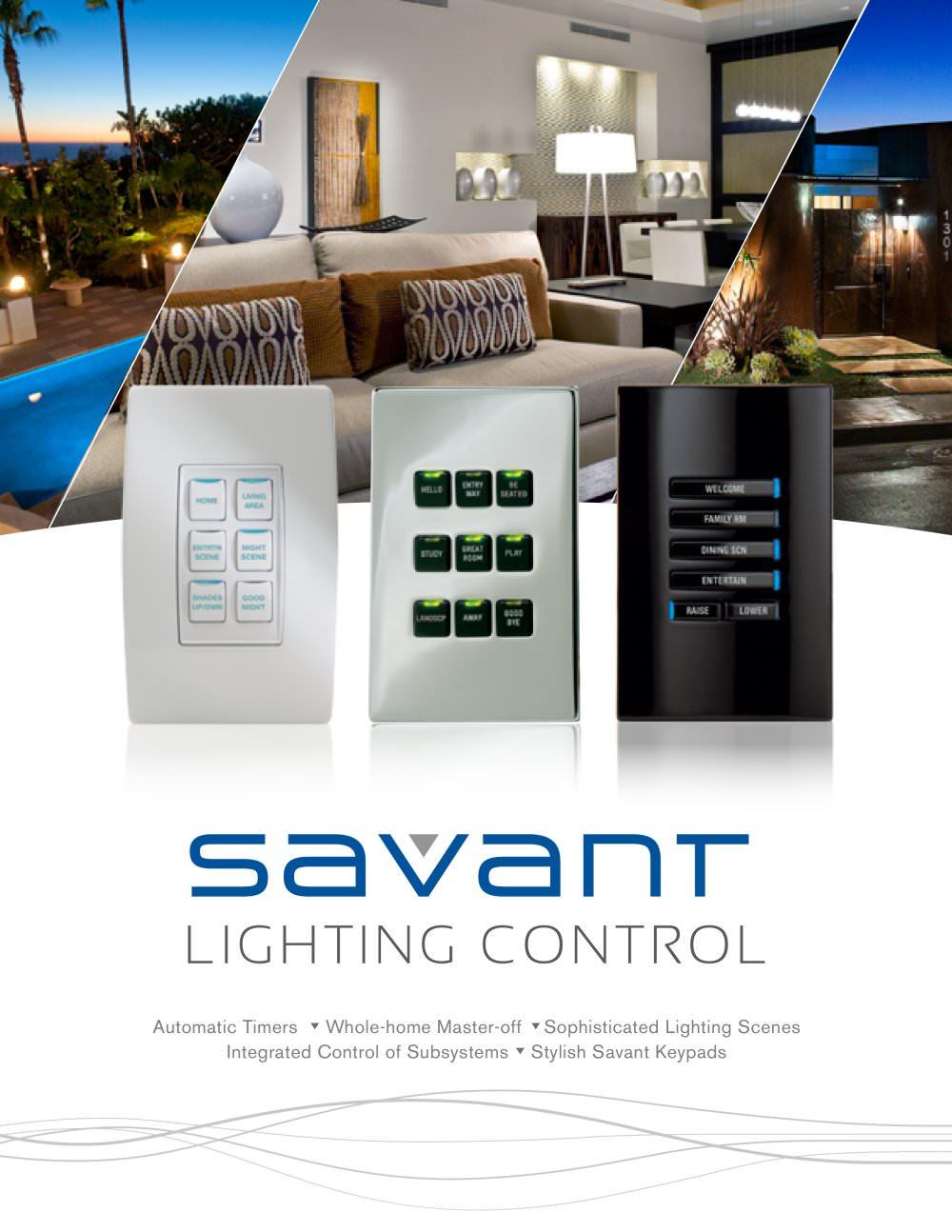 Savant Lighting Control - Savant Systems - PDF Catalogues ...