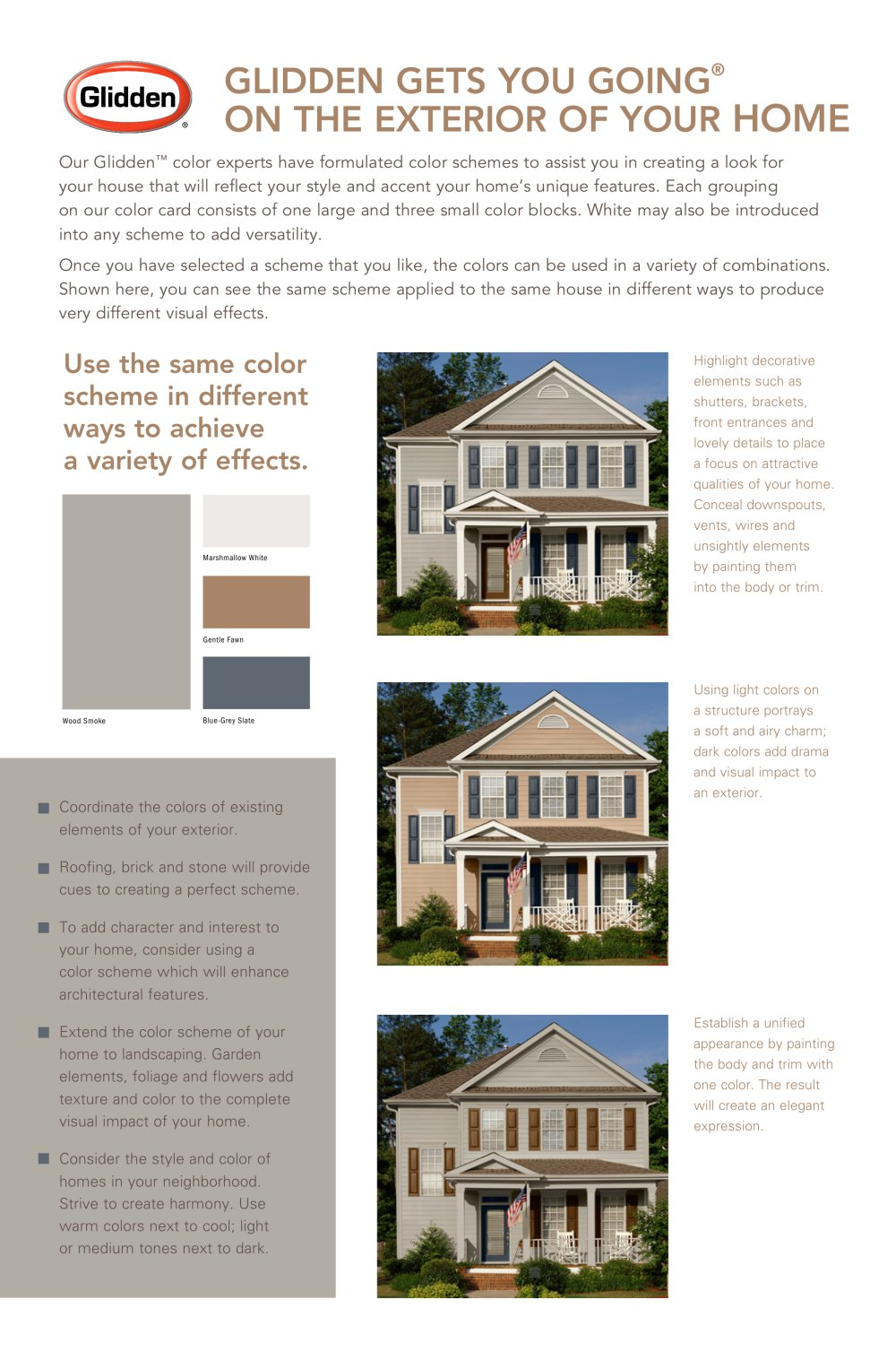 Glidden® ON the exterior of your home - GLIDDEN - PDF Catalogues ...