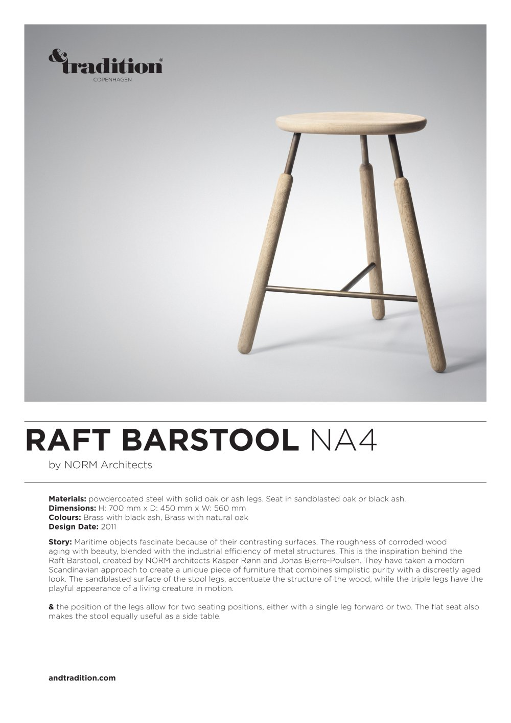 Raft Bar Stool NA4 - Andtradition - PDF Catalogues | Documentation ...