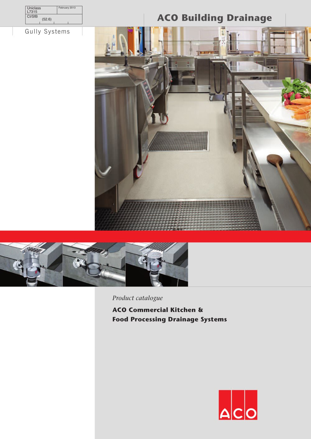 commercial kitchen food processing drainage systems aco building