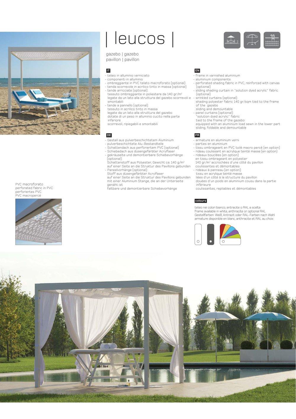 Leucos Technical Sheet - Ombrellificio Crema S.a.s - PDF Catalogues ...