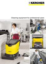 Cleaning equipment for professional users