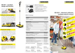 EB 30/1 � Kärcher�s efficient, cordless electric broom