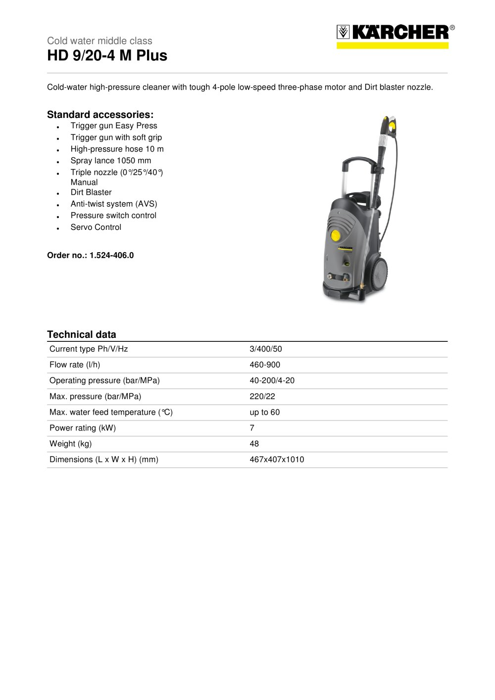 hd 9 20 4 m plus karcher pdf catalogues documentation brochures rh pdf archiexpo com Karcher USA Manuals Karcher Pressure Washer User Manual