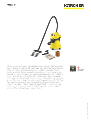 WD3 P WET AND DRY VACUUM CLEANER