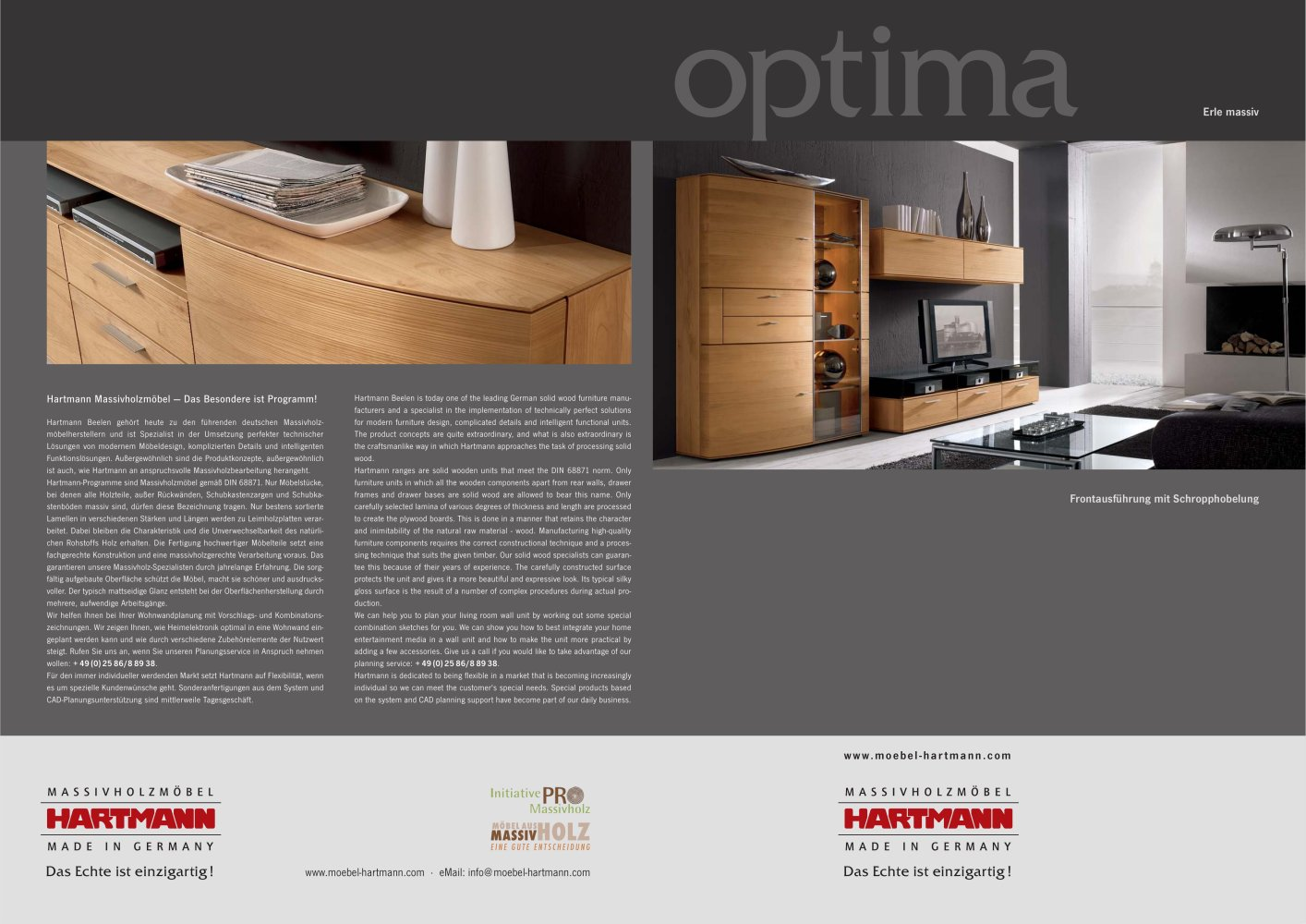 Optima - Hartmann Möbelwerke GmbH - PDF Catalogues | Documentation ...