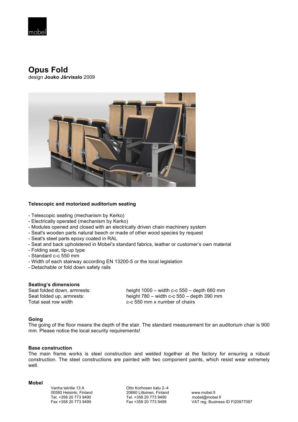 Opus fold - mobel - PDF Catalogues | Documentation | Brochures