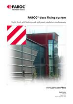 SANDWICH PANELS:paroc deco fixing system