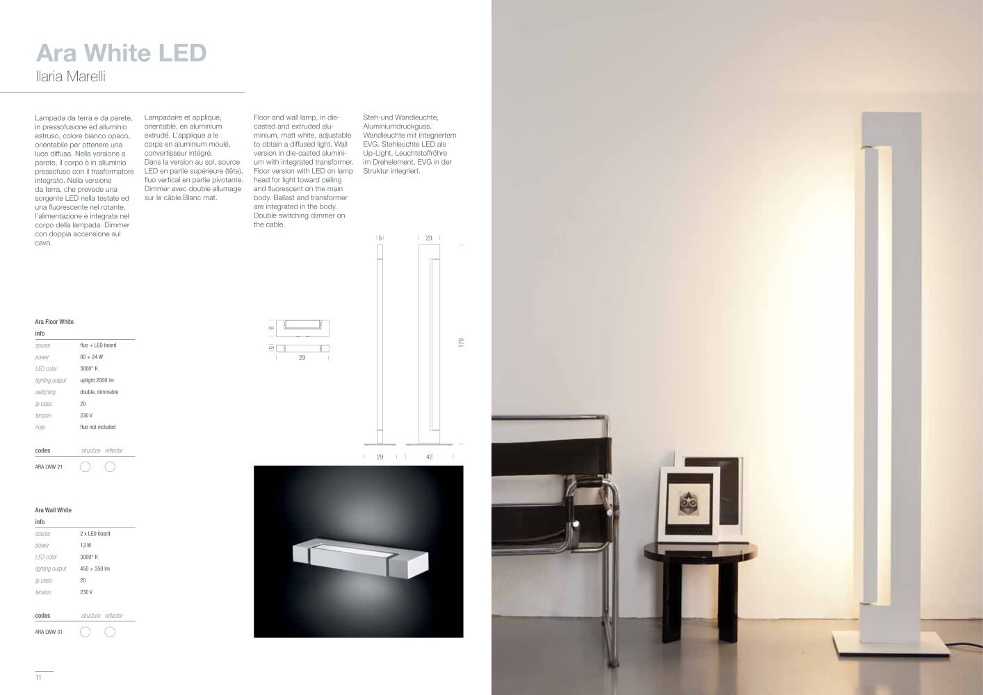 Ara White LED - NEMO - PDF Catalogues | Documentation | Brochures