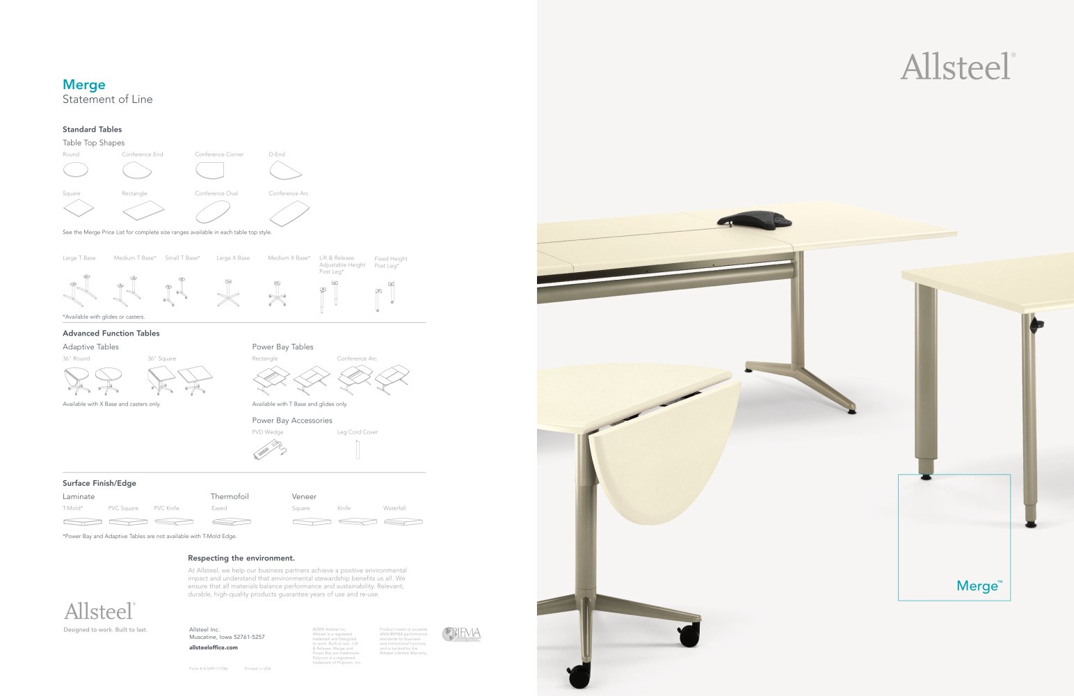 Round Function Tables Merge Table Brochure Allsteel Pdf Catalogues Documentation