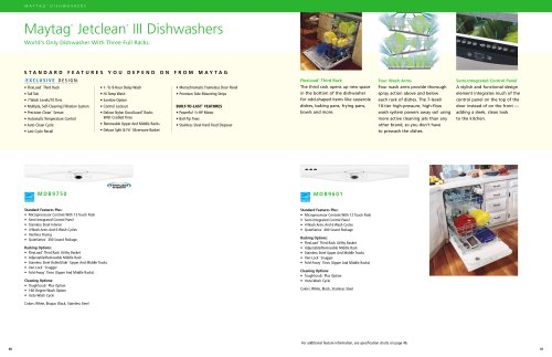 Kitchen-Dishwasher, Disposer Brochure