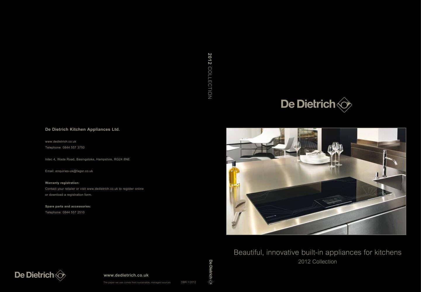 De Dietrich - DE DIETRICH ELECTROMENAGER - PDF Catalogues ...