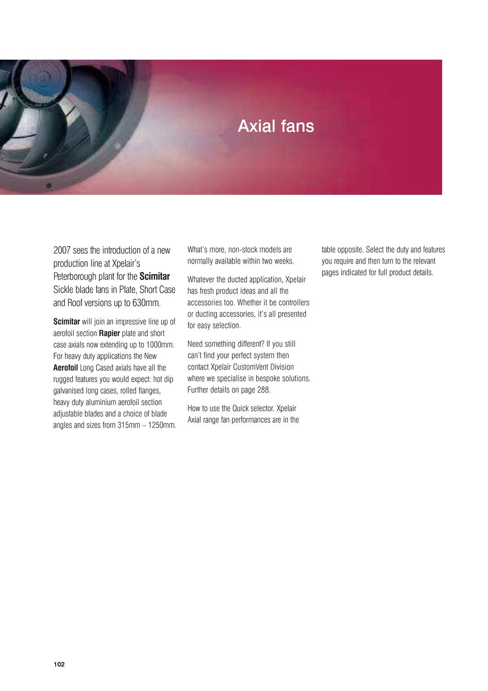 Xpelair Axial Fans Pdf Catalogues Documentation Wiring Diagram Fan 1 80 Pages