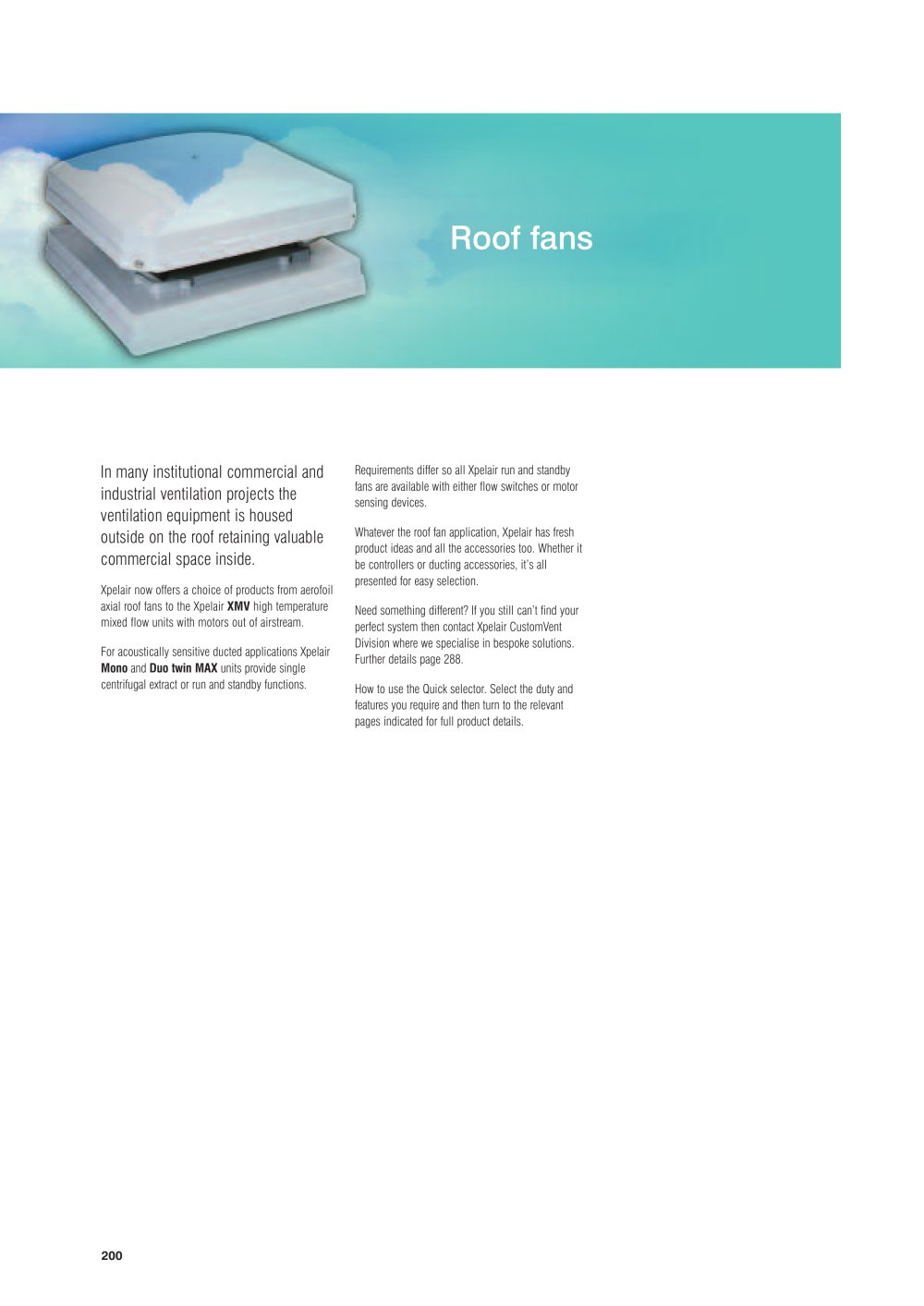 Xpelair Roof Fans Pdf Catalogues Documentation Brochures Wiring Diagram Fan 1 56 Pages
