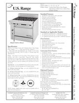 Cuisine Series Open Burner Ranges, C836-6