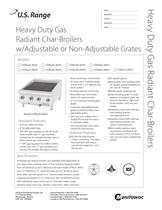 Heavy Duty Gas Radiant Char-Broilers w/Adjustable or Non-Adjustable Grates