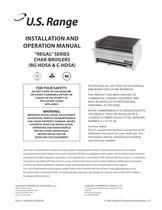 Installation/Operation Manual: All RG-HDSA & C-HDSA Series Gas Char Broilers, part #1382693