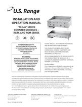 Installation/Operation Manual: All RTGA & RGM Series Gas Griddles, part #1382696
