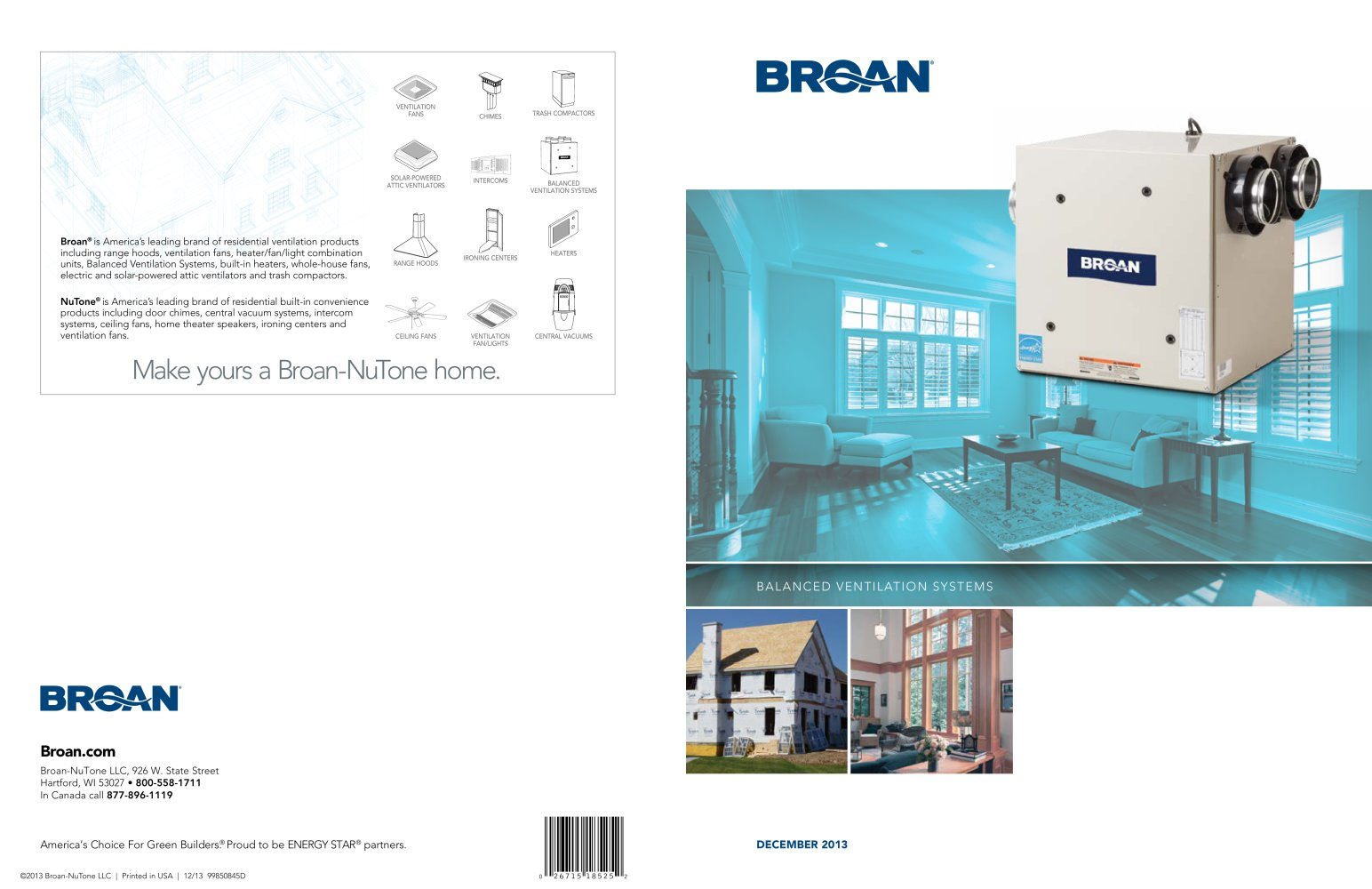 BROAN Balanced Ventilation Systems (IAQ) Catalog - BROAN - PDF ...