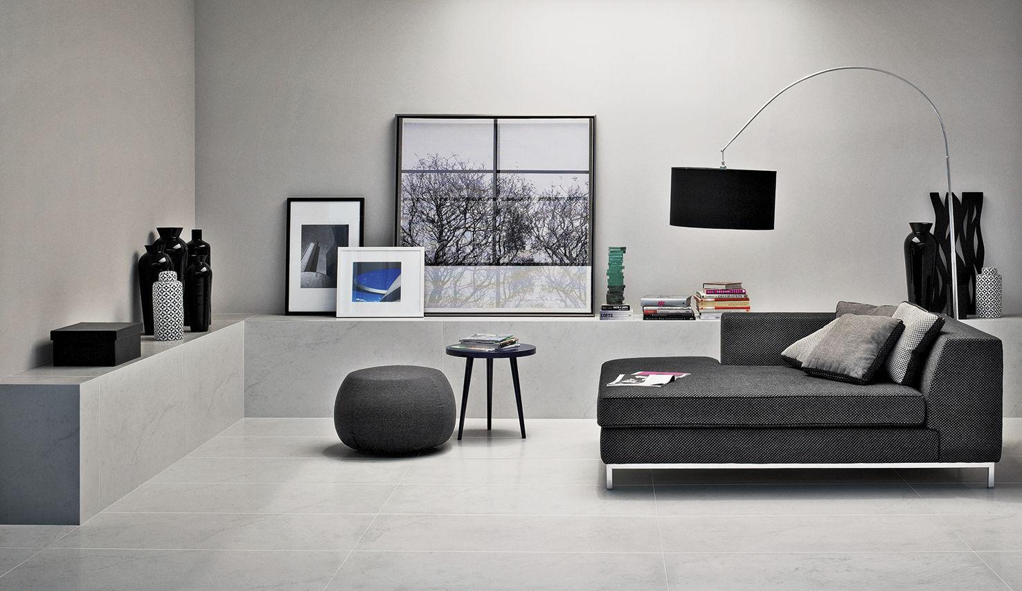 Ladrilho Para Ambiente Interno Para Sala De Piso De Parede  -> Sala Com O Piso Porcelanato Polido Cinza