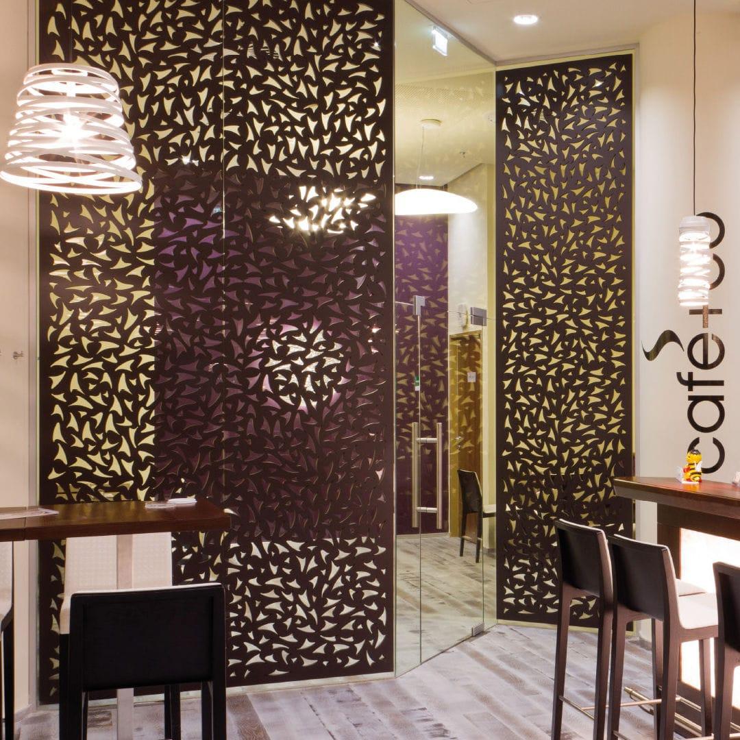 Painel Decorativo Em Mdf Para Divis Ria De Parede Perfurado  -> Parede Divisoria Sala