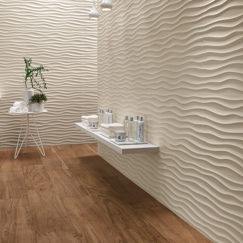 Ladrilho Para Ambiente Interno / De Parede / Em Porcelanato Arenito / Com  Padrão Geométrico   3D WALL DESIGN : DUNE WHITE U0026 SAND