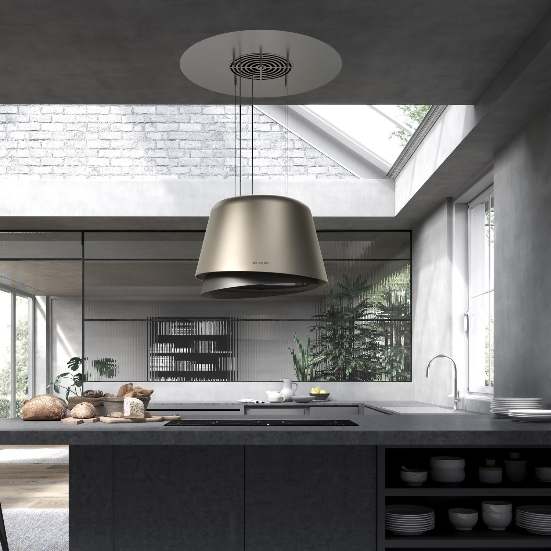 Coifa De Cozinha De Ilha Design Original Com Ilumina O Embutida