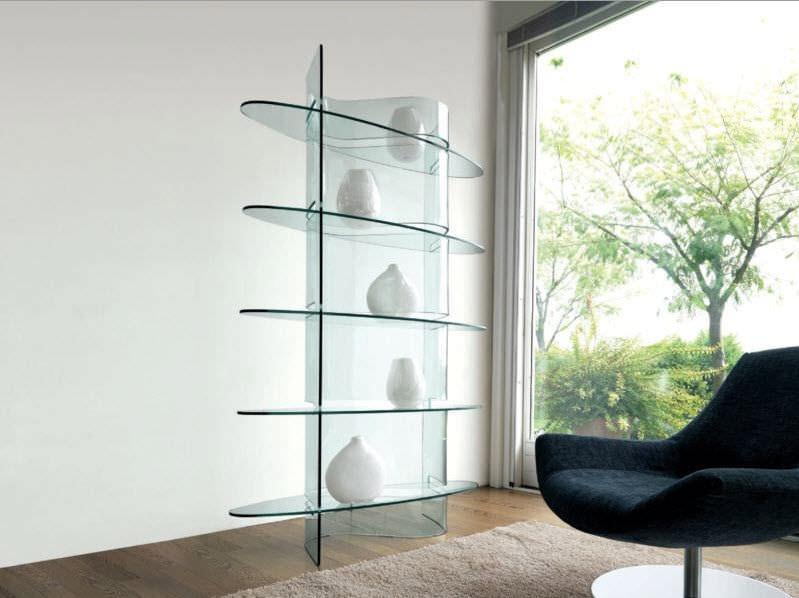 Estante De Vidro Temperado : Estante design original em vidro temperado infinity lib