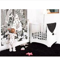 Cama de solteiro / contemporânea / para bebê / em faia