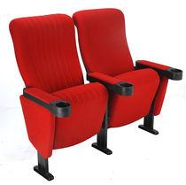 Poltrona de cinema em tecido / vermelha
