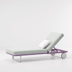 Chaise Longue De Exterior Contemporânea / Em Tecido / Em Alumínio / De  Jardim