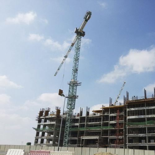 guindaste de torre topless / fixo / para construção civil / de elevação