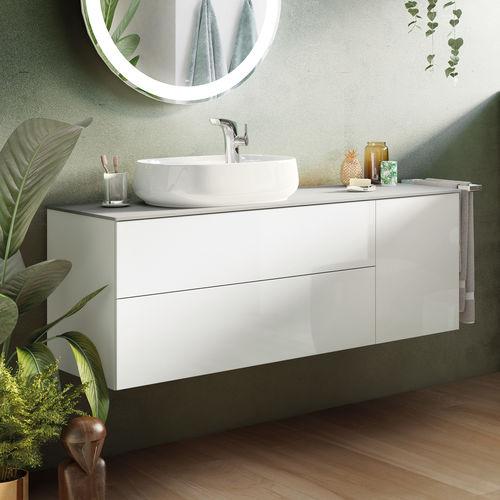 gabinete de banheiro de parede / em aglomerado / contemporâneo / com gavetas