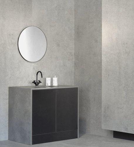 gabinete de banheiro de piso / em compósito / contemporâneo / com espelho