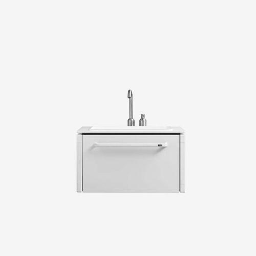 gabinete de banheiro suspenso / em inox / contemporâneo / com gavetas