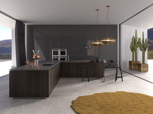 cozinha contemporânea / em madeira / em inox / em latão