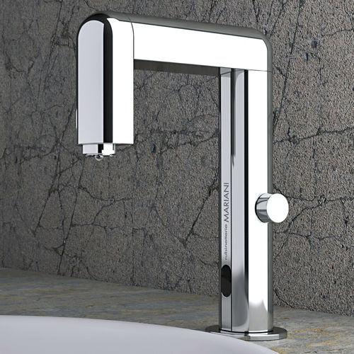misturador monocomando para lavatório / em metal cromado / eletrônico / 1 orifício