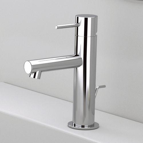 misturador monocomando para lavatório / em latão cromado / 1 orifício