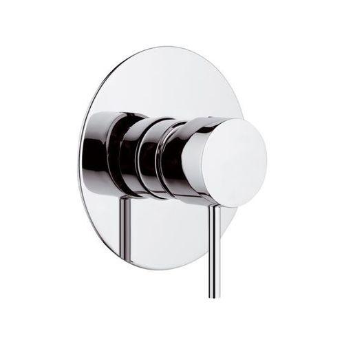 misturador monocomando para box de banheiro / de parede / em latão cromado / 1 orifício