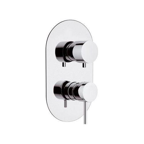 misturador monocomando para box de banheiro / de parede / em latão cromado / 2 furos
