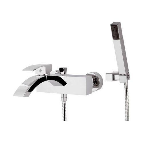 misturador monocomando para box de banheiro / para banheira / em metal cromado / 2 furos