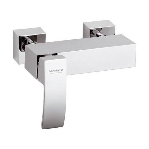 misturador monocomando para box de banheiro / de parede / em metal cromado / 2 furos