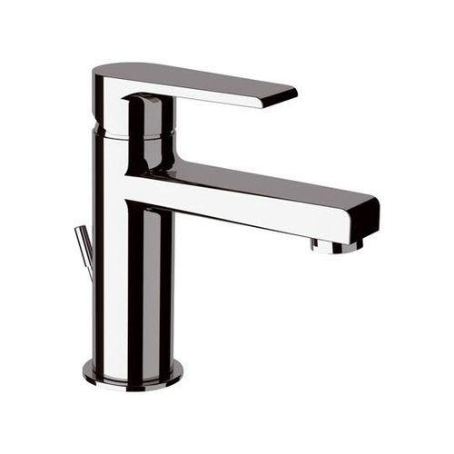 misturador monocomando para lavatório / em metal cromado / 1 orifício / economizador de água