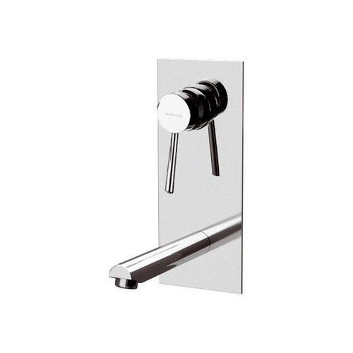 misturador monocomando para lavatório / de embutir / em metal cromado / 2 furos
