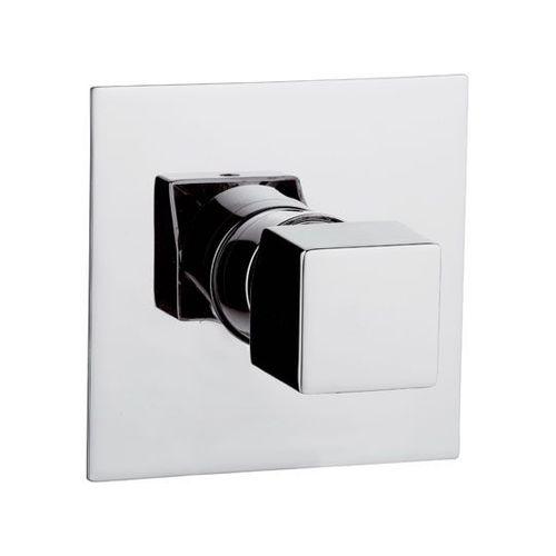 misturador monocomando para box de banheiro / de embutir / em latão cromado / 1 orifício